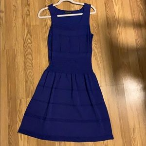 Blue Cinched Waist Dress